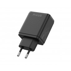 Адаптер сетевой Pixus Fast 2 2USB 2.4A Black