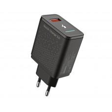 Адаптер сетевой Pixus Quick 3.0 1USB 3A Black