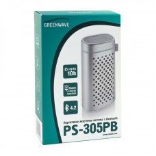 Колонка портативная Bluetooth Greenwave PS-305PB Silver (R0015125)