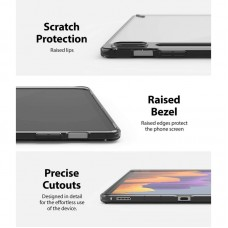 Чехол накладка TPU Ringke Fusion для Samsung Tab S7 T870 T875 Smoke Black (RCS4796)