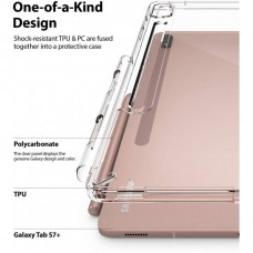 Чехол накладка TPU Ringke Fusion для Samsung Tab S7 Plus T970 T975 Clear (RCS4797)