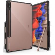 Чехол накладка TPU Ringke Fusion для Samsung Tab S7 Plus T970 T975 Smoke Black (RCS4798)