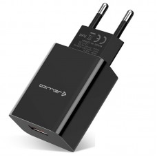 Зарядное устройство сетевое Jellico AQC33/AQC34 1USB 3A QC3.0 Black (RL055216) + cable USB-MicroUSB