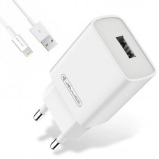 СЗУ Jellico AQC33 1USB 3A QC3.0 White (RL055217) + cable USB-Lightning