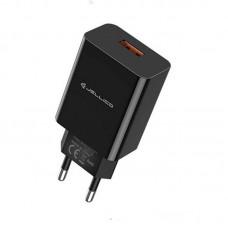 Адаптер сетевой Jellico AQC31/32 1USB 3A QC3.0 Black (RL055774)