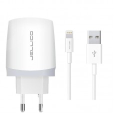 Зарядное устройство сетевое Jellico B25 1USB 2.1A White (RL056725) + cable USB-Lightning
