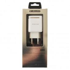 Зарядное устройство сетевое Jellico WJ-C80 LED 2USB 2.4A White (RL057587) + cable USB-MicroUSB
