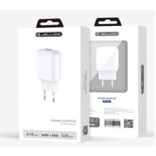 СЗУ Jellico C22 1USB 2.1A White (RL058167) + cable USB-Type-C