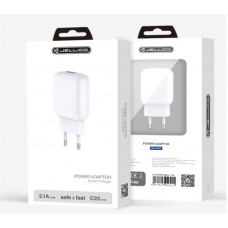 Зарядное устройство сетевое Jellico C22 1USB 2.1A White (RL058167) + cable USB-Type-C