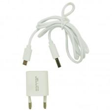 Зарядное устройство сетевое Jellico A11 1USB 1A White (RL058168) + cable USB-MicroUSB