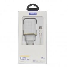 СЗУ Joyroom L-2A12Z 2USB 2.4A White + cable USB-Lightning (RL058958)