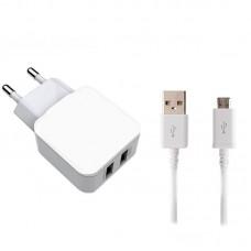 СЗУ Joyroom L-2A12Z 2USB 2.4A White + cable USB-MicroUSB (RL058959)