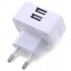 Адаптер сетевой Remax 2USB 2.1A White (RMT7188-EU-WHITE)
