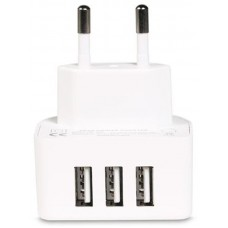 Адаптер сетевой Remax 3USB 3.1А White (RP-U31-EU-WHITE)