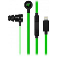 Наушники гарнитура вакуумные Razer Hammerhead for iOS Black/Green (RZ04-02090100-R3G1)