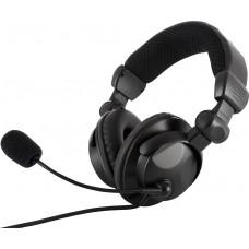 Наушники гарнитура накладные Modecom MC-826 Hunter Black (S-MC-826-HUNTER)