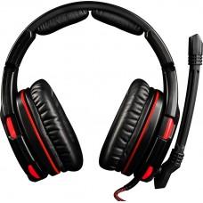 Наушники гарнитура накладные Modecom MC-832 Volcano Ghost 7.1 Black/Red (S-MC-832-GHOST)