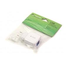 СЗУ PowerPlant W-250 QC3.0 1USB 3A White SC230013