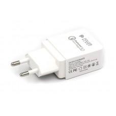 Адаптер сетевой PowerPlant GS-551 1USB 3A QC3.0 White (SC230082)