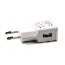 Адаптер сетевой PowerPlant 1USB 2.1A White (SC230136)