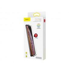 Защитное стекло Baseus Full Glue 0.3mm Frosted для iPhone XS Max Black (SGAPIPH65-KM01)