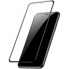 Защитное стекло Baseus Full Glue 0.23mm Crack Resistant для iPhone XS Max 6.5 Black (SGAPIPH65-PE01)