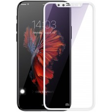 Защитное стекло Baseus 3D Full Glue 0.3mm Silk-Screen для iPhone X White (SGAPIPHX-A3D02)
