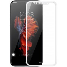 Защитное стекло Baseus Full Glue 0.2mm Silk Glass для iPhone X White