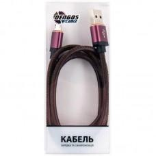 Кабель USB-MicroUSB Dengos 1m Brown (SHK-M-MT-BROWN)