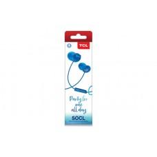 Наушники гарнитура вакуумные TCL SOCL300 Ocean Blue (SOCL300BL-EU)