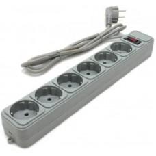 Сетевой фильтр Gembird Power Cube 6 розеток 4.5m 10A (SPG6-G-15G) Grey