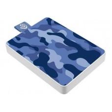 Внешний жесткий диск SSD USB 3.0 500GB Seagate One Touch Camo Blue (STJE500406)