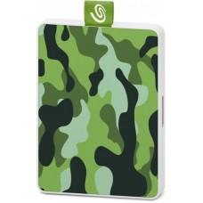 Внешний жесткий диск SSD USB 3.0 500GB Seagate One Touch Camo Green (STJE500407)