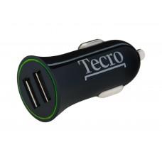 Адаптер автомобильный Tecro 2USB 2.1A Black (TCR-0221AB)