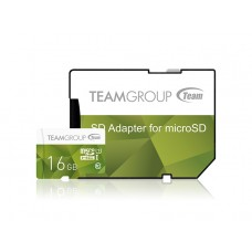 Карта памяти MicroSDHC 16GB UHS-I Team Color + Adapter SD Green (TCUSDH16GUHS43)