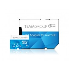 Карта памяти MicroSDHC 32GB UHS-I Team Color + Adapter SD Blue (TCUSDH32GUHS40)