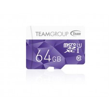 Карта памяти MicroSDXC 64GB UHS-I Team Color + Adapter SD Purple (TCUSDX64GUHS41)