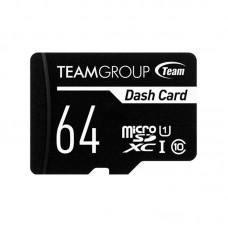 Карта памяти MicroSDXC 64GB UHS-I Class 10 Team Dash Card + Adapter SD (TDUSDX64GUHS03)