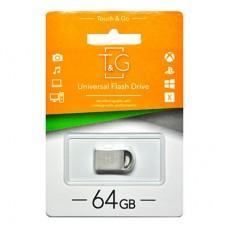 Флешка USB 2.0 64GB T&G 107 Metal Series Silver (TG107-64G)