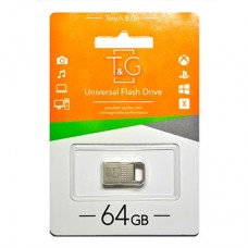 Флешка USB 2.0 64GB T&G 113 Metal Series Silver (TG113-64G)