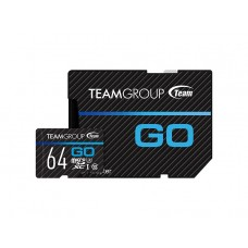 Карта памяти MicroSDXC 64GB UHS-I U3 Team Go R90/W45MB/s + Adapter SD (TGUSDX64GU303)