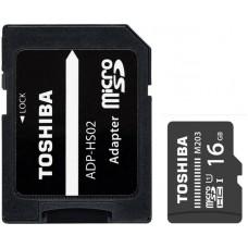 Карта памяти MicroSDHC 16GB UHS-I Class 10 Toshiba M203 + Adapter SD (THN-M203K0160EA)