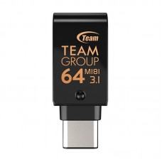 Флешка USB 3.1 64GB OTG Type-C Team M181 Black (TM181364GB01)