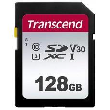 Карта памяти SDXC 128GB UHS-I U3 Class 10 Transcend 300S (TS128GSDC300S)