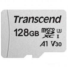 Карта памяти MicroSDXC 128GB UHS-I U3 Class 10 Transcend 300S A1 + Adapter SD (TS128GUSD300S-A)