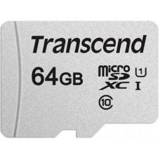 Карта памяти MicroSDXC 64GB UHS-I Class 10 Transcend 300S + Adapter SD (TS64GUSD300S-A)