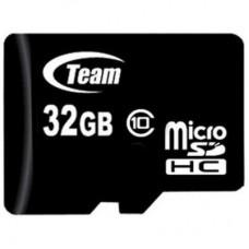Карта памяти MicroSDHC 32GB Class 10 Team (TUSDH32GCL1002)