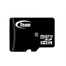 Карта памяти MicroSDHC 4GB Class 10 Team + Adapter SD (TUSDH4GCL1003)