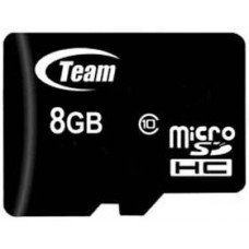 Карта памяти MicroSDHC 8GB Class 10 Team + Adapter SD (TUSDH8GCL1003)
