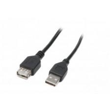 Удлинитель USB-USB 2.0 AM-AF Maxxter 1.8m Black